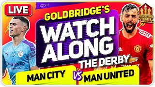 MAN CITY vs MANCHESTER UNITED With Mark GOLDBRIDGE LIVE