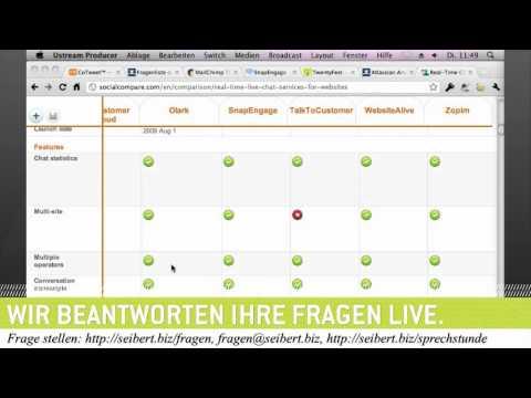 Vergleich von Live-Chat-Lösungen für Websites