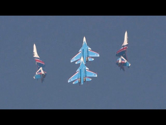 Russian Knights Perform Aerobatics with Sukhoi Su-30SM Fighters at Dubai Airshow – AINtv