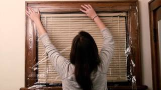 How To Put Plastic On Your Windows - with Window Sills - HOW TO DO?