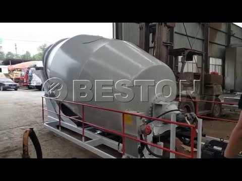 Test Running Of Beston Concrete Truck Mixer Drum