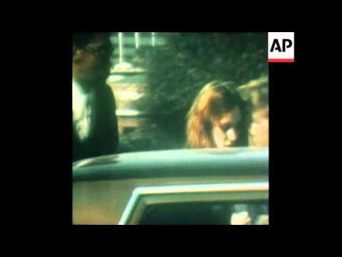 SYND 30 3 76 PATTY PATRICIA HEARST ESCORTED FROM PRISON FOR A TRIAL IN LOS ANGELES, CALIFORNIA