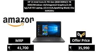 HP 15 Intel Core-i3 7th Gen