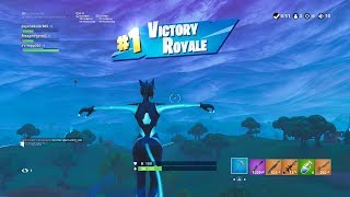 "FORTNITE First Win with BLUE ""LYNX"" SKIN (""CATWOMAN"" OUTFIT) 