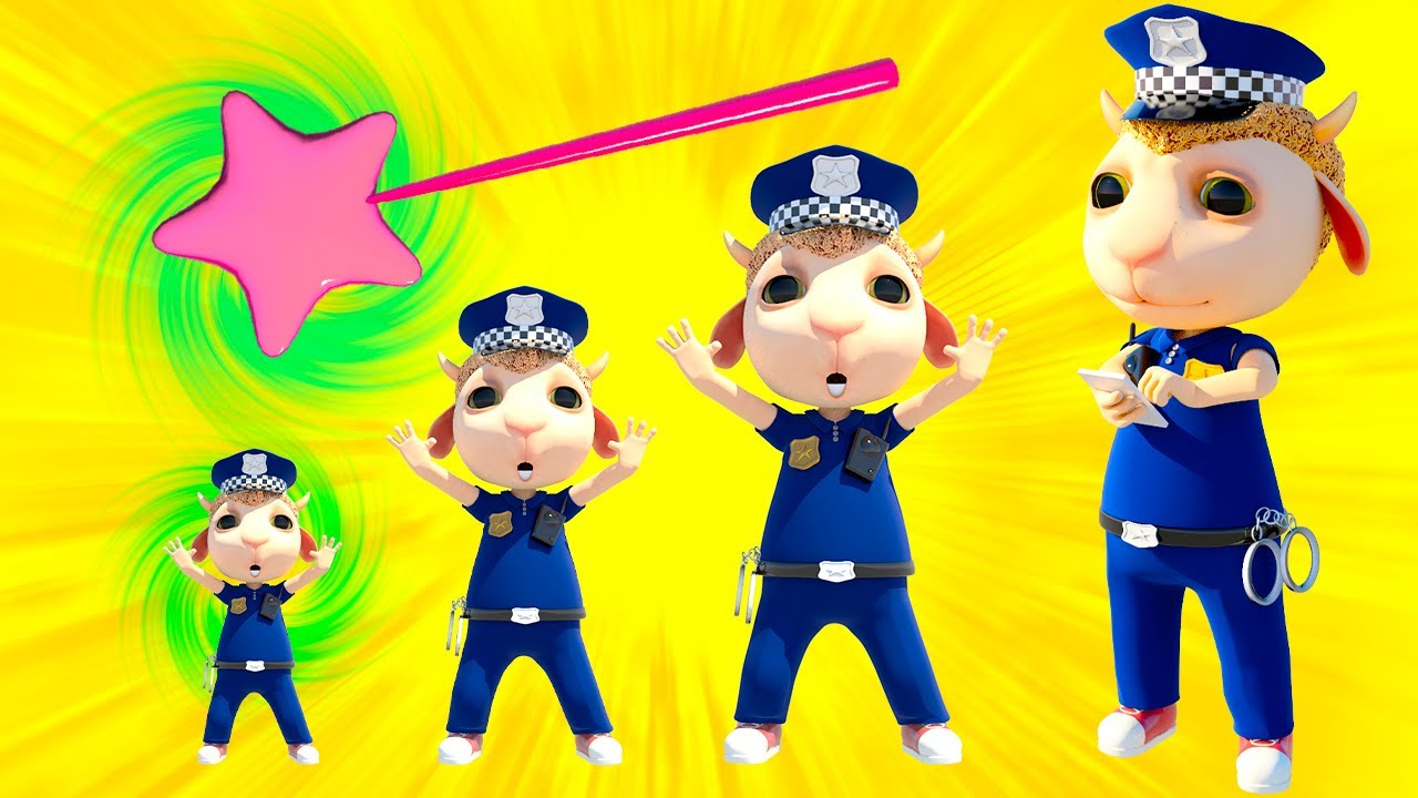 No No, Baby Panda! Don't Tease Policeman Johny! Kids Pretend Play Zombies + Nursery Rhymes & Songs