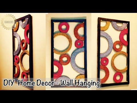 Diy Unique Wall Hanging | Wall Hanging Craft Ideas | diy wall decor | Wall hanging ideas