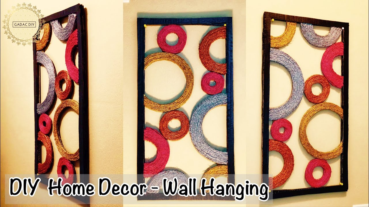 Diy Unique Wall Hanging | Wall Hanging Craft Ideas | Abstract wall ...