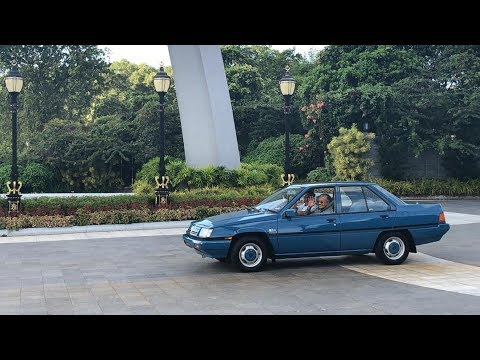 Johor Sultan drives Dr M to airport in classic Proton Saga