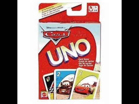 Disneypixar Cars Uno Card Game Youtube