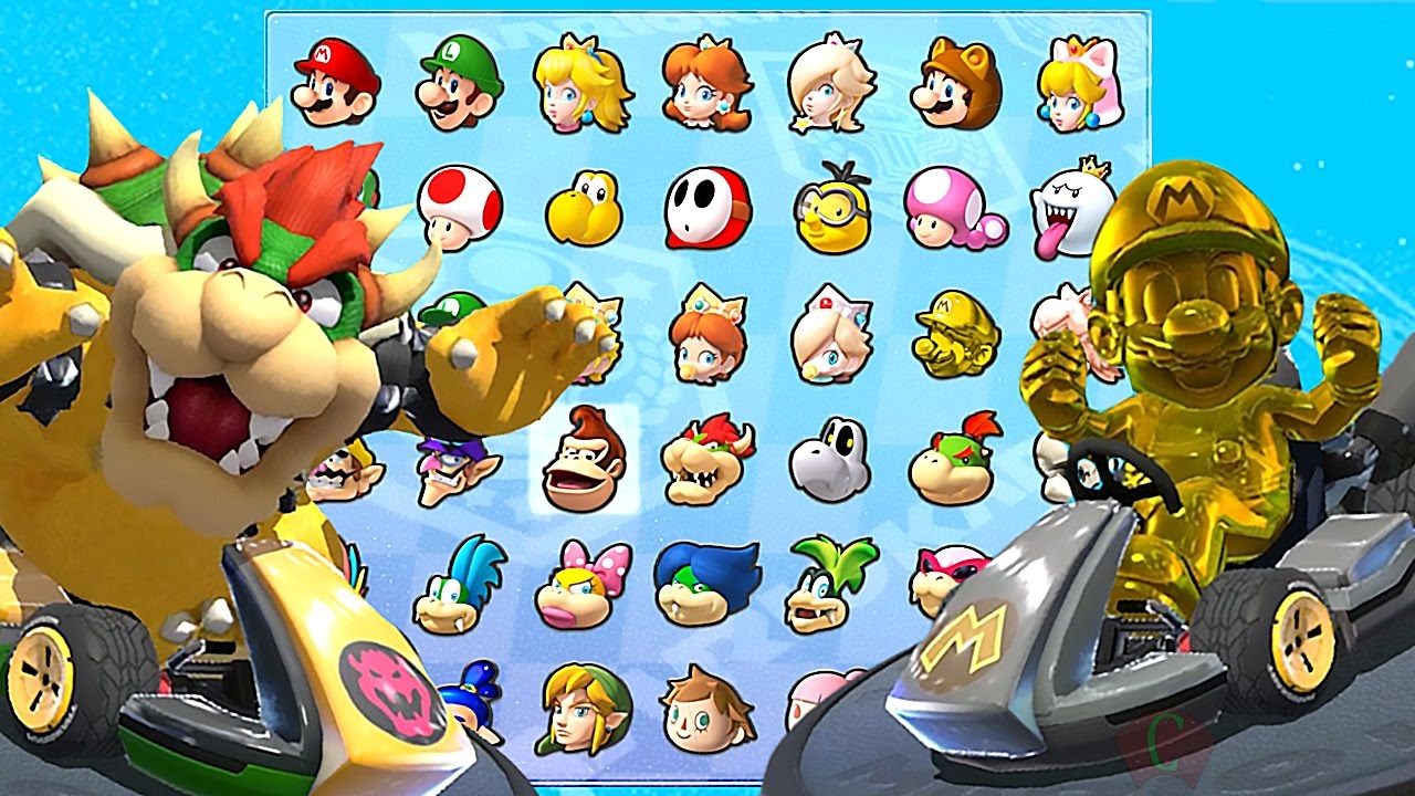 Mario Kart 8 Deluxe All Characters Unlocked And Golden Mario Metal Mario Bowser More