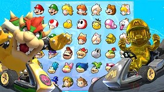 Mario Kart 8 Deluxe All Characters Unlocked And Golden Mario, Metal Mario, Bowser   More