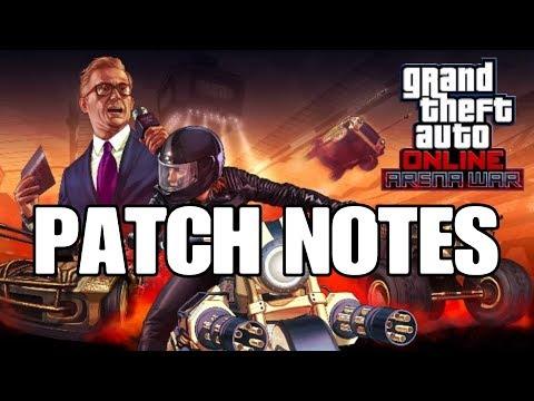 GTA ONLINE | ARENA WAR DLC | PATCH NOTES