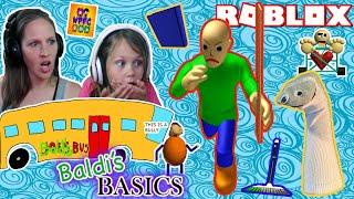 BALDI'S BASICS in ROBLOX - We Play as Baldi! Scary Teacher!! | WPFG Family Gaming