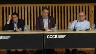 Acte amb els advocats Gonzalo Boye i Jaume Alonso-Cuevillas