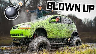Monster Car Blows Motor While Mudding!!