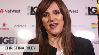 British LGBT Awards 2017 - Backstage with winner Christina Riley from Balfour Beatty
