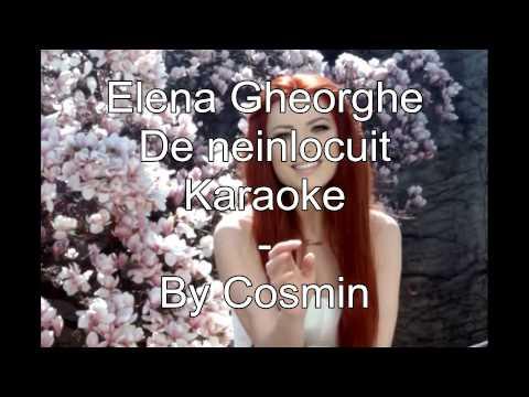 Elena Gheorghe - De neinlocuit . Karaoke .( cu backing vocals )