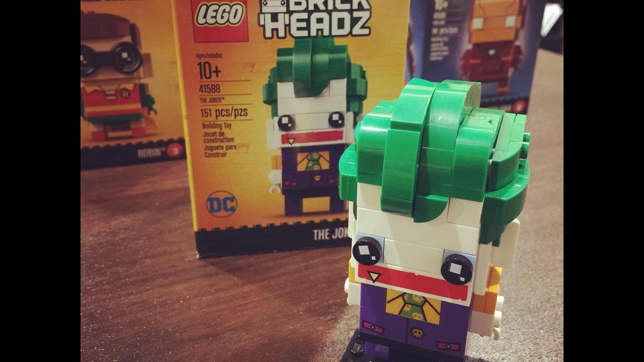 lego brickheadz 41588 joker speed build youtube. Black Bedroom Furniture Sets. Home Design Ideas