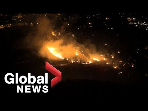 Californias Woolsey fire continues to burn in Los Angeles County