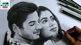 Drawing Dhadak Stars - Realistic Sketch | Janhvi and Ishaan's Sketch | Dhadak Sketch