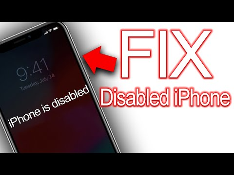 How To Fix A Disabled IPhone Tutorial (iPhone, IPad & IPod Touch)