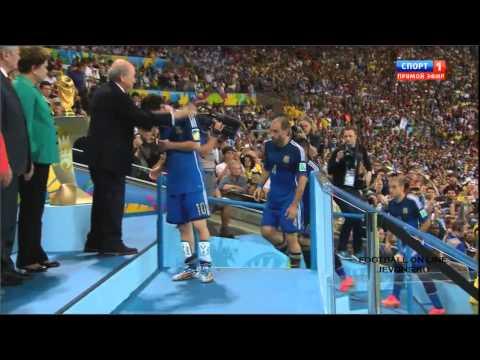 Церемония награждения ЧМ Бразилия 2014. Германия аргентина.Германия чемпион.
