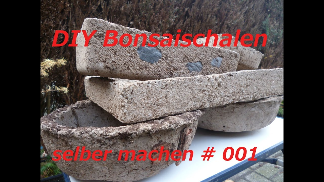 diy bonsaischale aus beton selber machen youtube. Black Bedroom Furniture Sets. Home Design Ideas