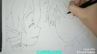 Drawing of Sinon and Kirito [Avatar]