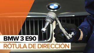 Cómo cambiar Rótula barra de dirección BMW 3 (E90) - vídeo gratis en línea