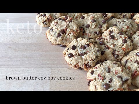 Keto Brown Butter Cowboy Cookies