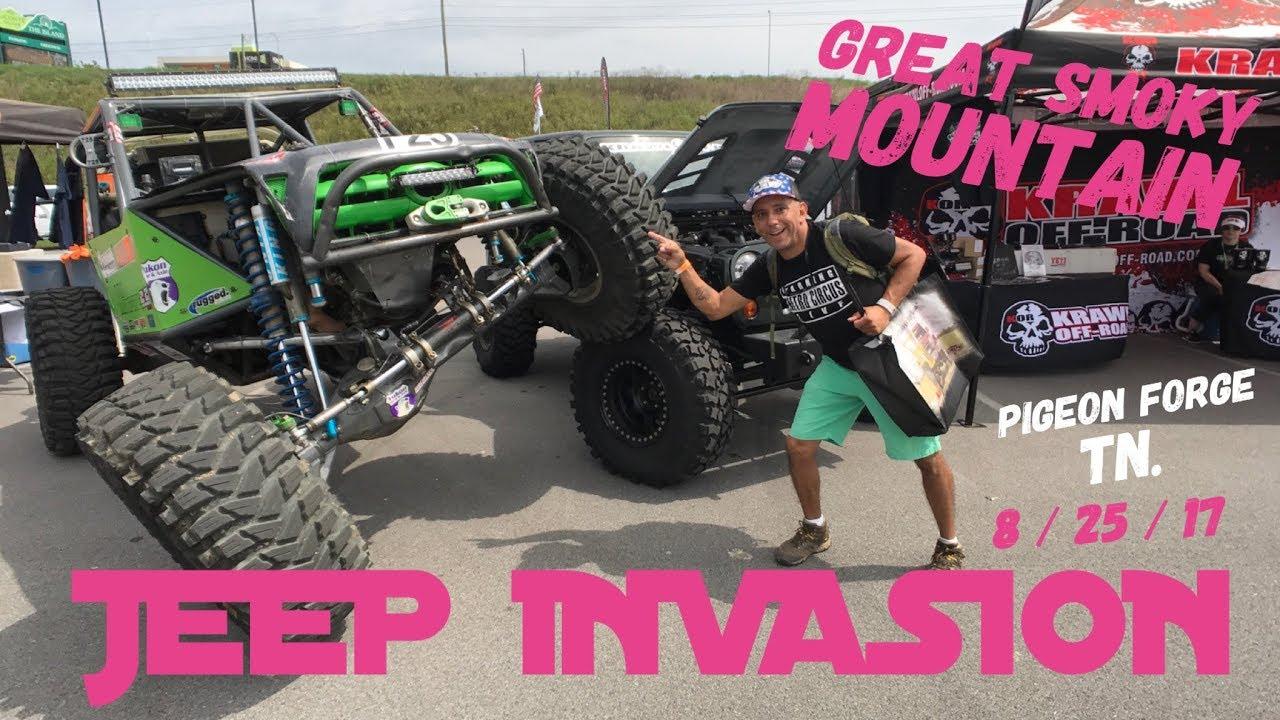 Insane Great Smoky Mountain Jeep Invasion Pigeon Forge Tn 8 25