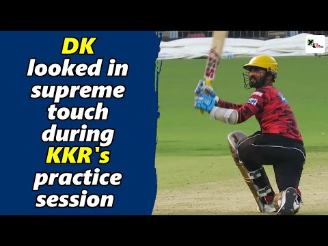Dinesh Karthik looked in supreme touch during KKR's practice session at Eden Gardens