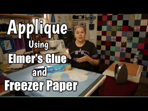 Raw Edge Applique With Freezer Paper and Elmer's Glue