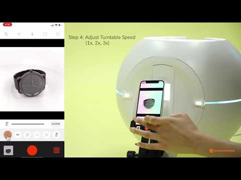 Foldio360 Smart Dome - How to Take 360 With App