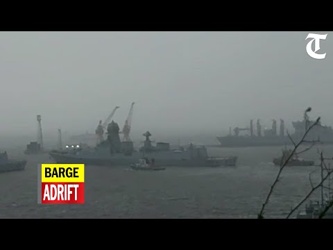 Barge with 273 on board adrift near oil rigs, Navy sends rescue team
