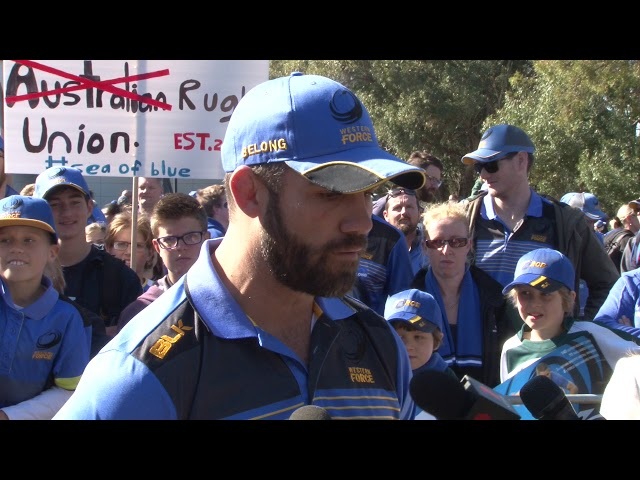 WA Rugby Supporters Rally