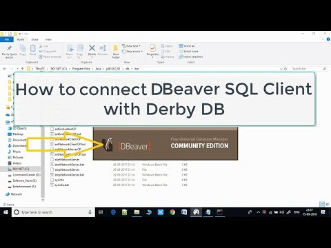 Connecting DBeaver Sql Client With Derby DataBase - YouTube