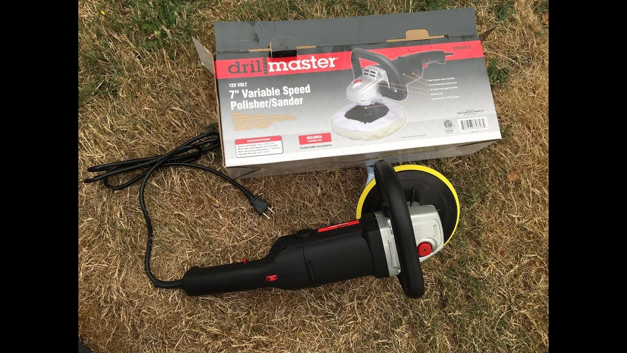 drillmaster 7 10 amp variable speed buffer polisher review 60626 harbor freight [ 1280 x 720 Pixel ]