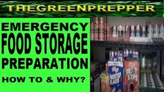 EMERGENCY Food Storage Preparation HOW TO & WHY -  Doomsday Preppers Prepping Preps
