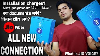 Jio FIBER NEW connection details | JIO fiber installation charges, payment mode | what is JIO VOICE