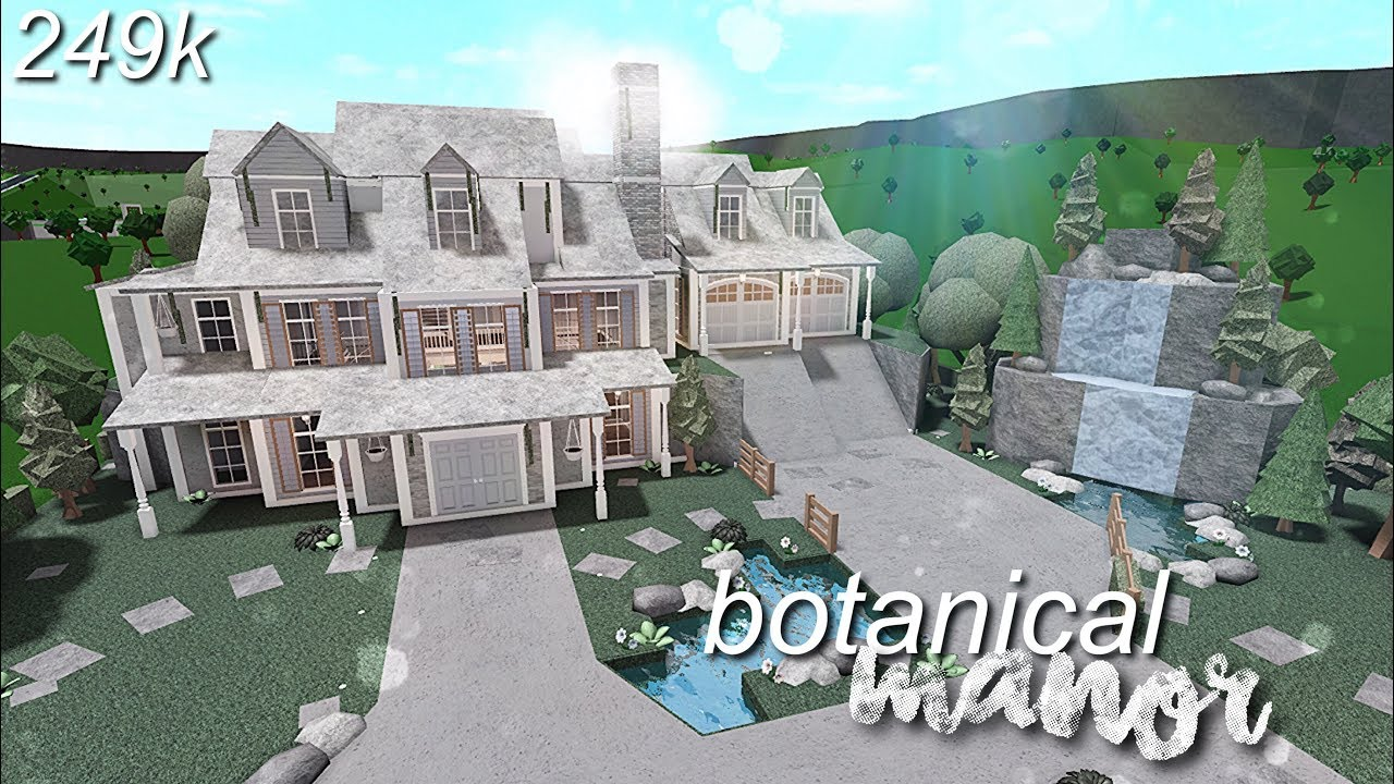 Bloxburg: Botanical Manor | Speed Build - YouTube