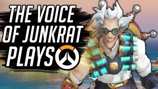 THE REAL VOICE OF JUNKRAT PLAYS OVERWATCH!!
