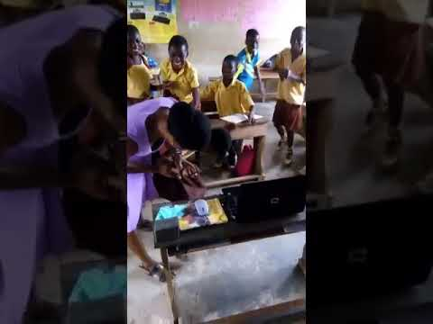 Basic School Pupil Scared Of Holding A Computer Mouse