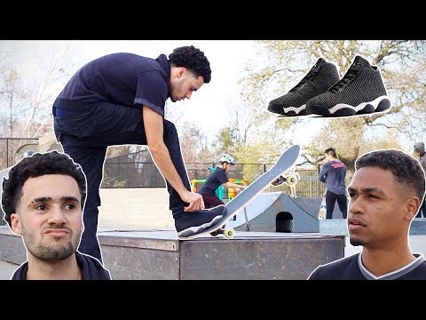 Poser Skating In Jordans At Skatepark