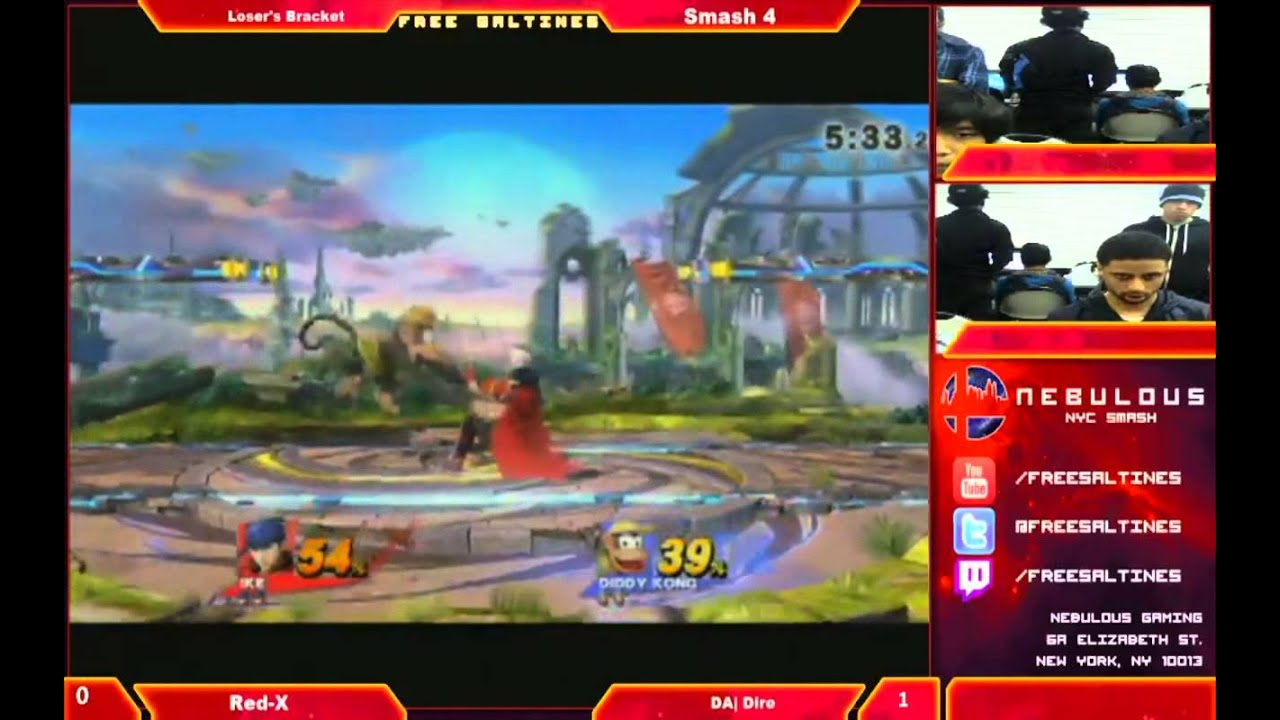Red X (Ike) vs Dire (Diddy kong) Super smash bros 4 ...