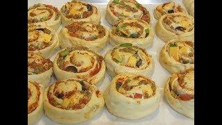 البيتزا الحلزونيه اروع فطائر للمدرسه مع سر الطعم Pizza Roll