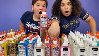 100 LAYERS OF GLUE SLIME CHALLENGE !!