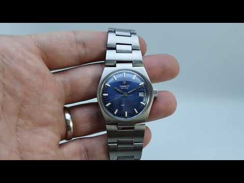 1973 Tissot PR516 Men's Vintage Watch With Blue Dial And Quick Set Date