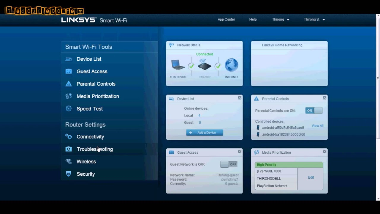 Linksys Router Ip >> Linksys Smart Wi-Fi Portforwarding - YouTube