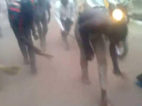 Buhari Jubilators Sweeping Main Road in Funtua